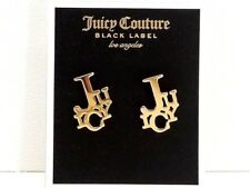 Juicy Couture Shuffled Juicy Stud Earrings Goldtone Stacked Logo Studs New! NWT