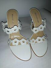 New Colin Stuart White Flower Dress Heels Size 6.5