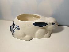 Potting Shed Dedham Pottery Bunny Shaped Plante 1989