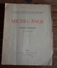 Michel Ange de Romain ROLLAND  éditions Albin Michel 1943