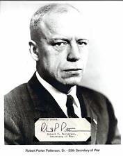 Robert P Patterson Autograph Secretary War Court Appeals Union College Harvard