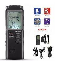 US Digital Voice Activated Recorder MP3 Player 32GB Audio Sound Voice Dictaphone