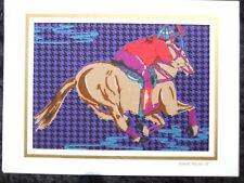 Handmade Polo Pony Fabric Blank Greeting Card