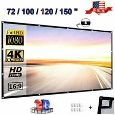 16:9 HD Projector Projection Screen 4K 3D Home Theater Movie Cinema in Outdoor