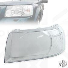 Headlight lens for Freelander 2 (2007-12) replacement glass Left LH N/S headlamp