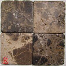 Handmade Natural Stone Ceramic Tile Marble Drink Coasters - Set of 4 -Plain 1G