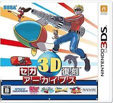 New Nintendo 3DS Sega 3D Classics Collection Fukkoku Archives Japan Japanese F/S