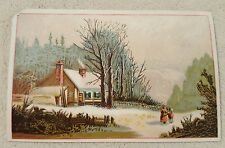 Vintage Antique Victorian Trade Card Agricultural Implements Carriages Wagons