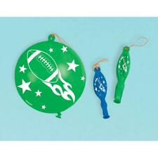 (16 Pcs) Football Punch Balloons Green & Blue Party Favors
