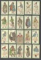1912 John Player Characters From Dickens Tobacco Cards Near Set of 24/25