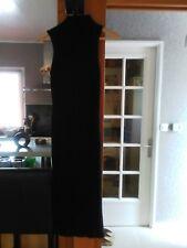 Robe longue noire Zara maille épaisse sans manches col roulé taille M moulante