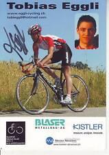 CYCLISME carte cycliste TOBIAS EGGLI équipe BLASER KISTLER signée