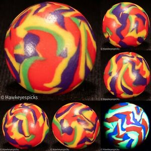 STUNNING Handmade CLAY UV Swirl Marble 3/4+ Mint hawkeyespicks sg
