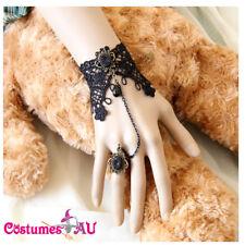 Black Bracelet Ring Spanish Vintage Halloween Mexican Day Of The Dead Skull