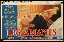 LOVERS LES AMANTS Belgian movie poster JEANNE MOREAU LOUIS MALLE vintage