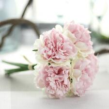 5 Heads Bunch Artifical Peony Silk Flower Bouquet Hydrangea Wedding Home Decor