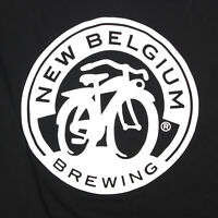 New Belgium Brewing Beer Enthusiast Black Men's T-Shirt Tee size Medium