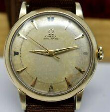 Vintage c. 1950 10k Gold Filled Mens Omega Bumper Automatic Wristwatch