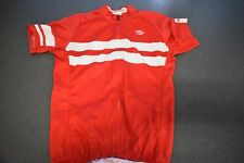Bellwether Short Sleeve Cycling Jersey, Men's, Medium, Red/White