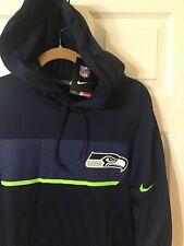 Nike SEATTLE SEAHAWKS Player Hoodie Football NFL On Field Sweater Men Size