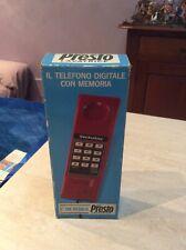 Rarissimo telefono digitale con memoria Techstar Bio Presto nuovo da collezione