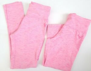 Justice Size 10 (Lot of 2) Pink Heathered Leggings 1 Full Length / 1 Capris