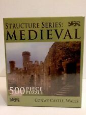 Sealed Jigsaw Puzzle Medieval Structures Conwy Castle Wales 500 pc 18x24