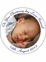 """7.5""""+30 CUP CAKE TOPPERS EDIBLE WAFER PERSONALISED PICTURE PHOTO TEXT IMAGE"""