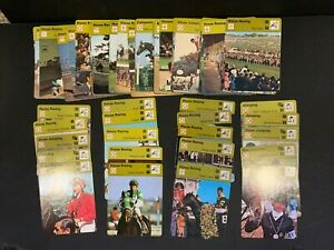 1977-79 Huge Large Collection Lot 60+ Sportscaster Horse Racing Jumping Cards