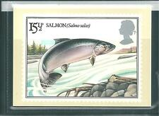 GB - PHQ CARDS -1983 - BRITISH RIVER FISH  - BACK - FDI/SHS - COMP. SET USED