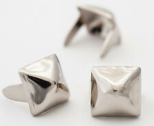 1/4 inch silver small pyramid studs for clothing - Bag of 100 - StudsAndSpikes