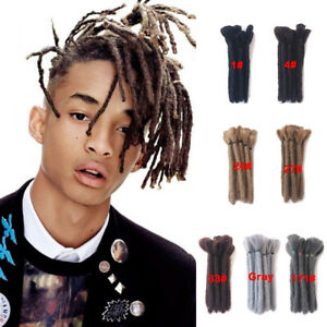 "6""/15cm Short Dreadlocks for Men Synthetic Crochet Braided Locs Hair Extensions"
