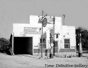 Store & AMOCO Gas Pumps, Granville Cnty, N. Carolina -1940- Vintage Photo Print