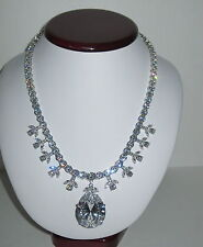 New Smithsonian Simulated Victoria Transvaal Necklace Clear Limited Edition