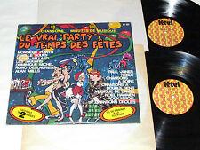 LE VRAI PARTY DU TEMPS DES FETES 2-LP SET K-Tel Canada Quebec French Tounes GD+