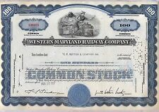 Western Maryland Railway Company Stock Certificate Railroad Blue
