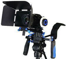 DSLR RIG With Follow Focus And Matte Box Shoulder Mount Rig with COUNTER WEIGHT