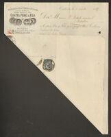 """TOULOUSE (31) USINE de CIERGES & BOUGIES """"COSTES Pere & Fils"""" Timbrée en 1897"""