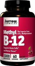 Jarrow Formulas Methyl B-12, 5000 mcg, 60 Lozenges - Vitamin B12 Supplement