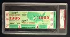 1965 WORLD SERIES FULL TICKET GM#3   PSA 5  NICE