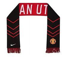 Nike Manchester United Supporters Scarf Large Brand Detailing Embroidered Logos