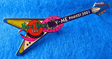 CHICAGO PROTOTYPE BREAST CANCER PINK RIBBON FV GUITAR Hard Rock Cafe PIN LE 2/5