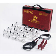 Hansol Massage Cupping Set 19 Cups High Quality Relief Pain / Vacuum Therapy