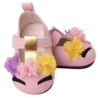 18inch Girl Doll Princess PU Shoes for American Doll Dress Accessories Pink