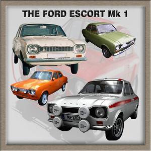 FORD ESCORT MK1 CLASSIC CAR FRIDGE MAGNET GIFT, MEXICO, RALLY, ETC