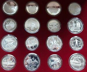 SOWJETUNION/ UDSSR: OLYMPIADE 1980 MOSKAU komplett 28 Münzen (5 +10 Rubel) in PP