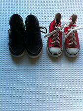 ADIDAS BLACK&GREEN&CONVERSE RED CHUCK TAYLOR ALL STARS HI TOP TRAINERS INFANTS 7