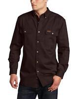 Carhartt Men's Oakman Sandstone Twill Original-Fit Work Shirt, Midnight, Regular