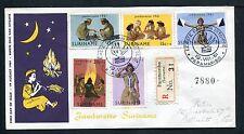 Suriname FDC E17_  1(?) M, met adres ; aangetekend, Verbrugge