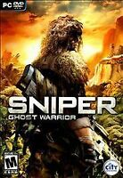 SNIPER: GHOST WARRIOR PC/DVD WITH SLIP COVER, KEYCODE, MANUAL PLUS ALL INSERTSS